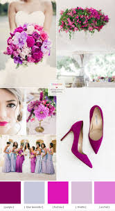 shades of purple and fuchsia wedding colour theme