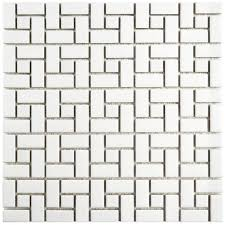 elitetile retro spiral 12 5 x 12 5 porcelain mosaic floor and