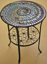 Mosaic Bistro Table Furniture Indoor Mosaic Bistro Table Ideas Enticing