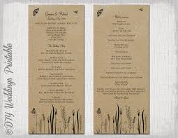rustic wedding programs rustic wedding program template butterfly meadow