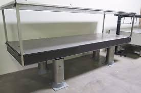 vibration isolation table used used 4 x 6 x 8 optical table with pneumatic isolation mount xl b