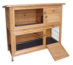 wooden rabbit or guinea pig easipet hutch two tier 339 amazon