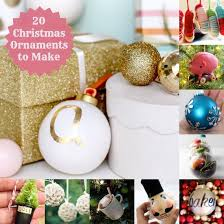 festive 20 diy ornaments to make diy