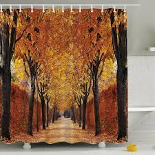 ambesonne fall perspective print shower curtain reviews wayfair