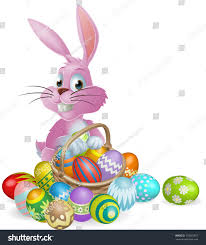 Decorated Easter Eggs Clip Art by Pink Easter Bunny Rabbit Easter Eggs Stock Vector 170567837