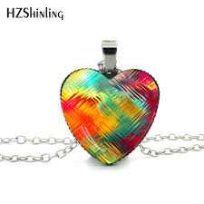 heart necklace red images New glass dome necklace rainbow colorful purple red heart necklace jpg