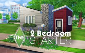 two bedroom house 2 bedroom starter house the sims 4 build