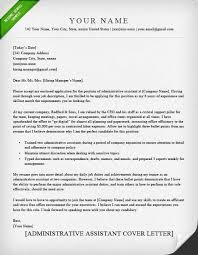 cover letter samples administrative assistant appealing