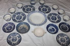 vintage china pattern antique collection blue willow pattern vintage china cup