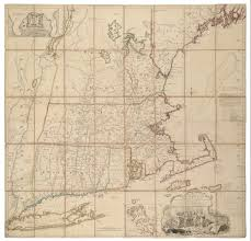 1775 Map Of Boston by First State Of The Finest 18th Century Map Of New England Rare