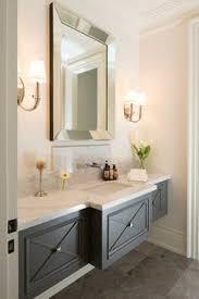 Grey Vanity Bathroom by Friday Links Blue Vanity Marble Tiles And Brass Hardware