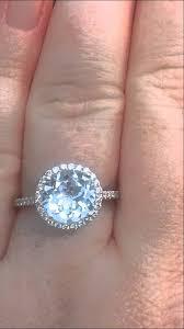 aquamarine diamond ring aquamarine engagement ring white gold diamond halo engagement