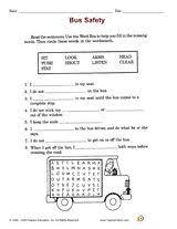 bus safety rules book grade garden health