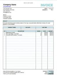 service invoice templates excel service invoice template free