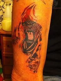 tiger torn ripped skin