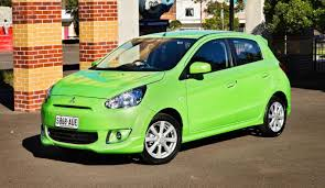 mitsubishi mirage pop green special edition released photos 1 of 5