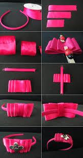 how to make headband bows diy tutorial hair accessories pink ribbon bow headband bead cord