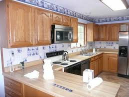 blue tile mosaic diy spray paint kitchen cabinets granite