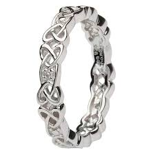 celtic knot ring silver celtic knot set ring