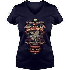 i am politically incorrect i say merry shirt v neck