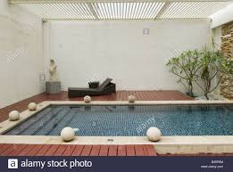private swimming pool inside boutique hotel room taiwan stock