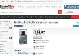 best buy gopro session black friday deals gopro hero 5 session gamestop 225 97 ymmv b u0026m slickdeals net