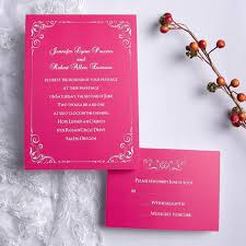 pink wedding invitations hot pink wedding invitations with response cards ewi192 as low as