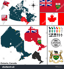 vector map state ontario coat arms stock vector 287311037