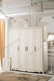 classic cheap wardrobe wooden white closet bedroom furniture 8006wd