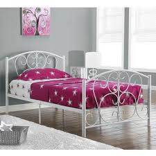 white metal twin size bed frame only walmart com apartment for