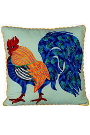 midwest home decor midwest cbk embroidered rooster pillow from canada by james street