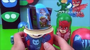 pj masks toys surprise nesting dolls pj masks video disney jr