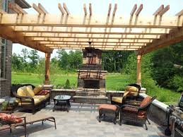 burr ridge pergola fireplace