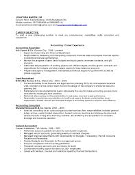 financial resume accounting and finance resume