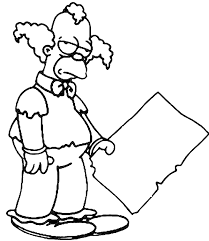 coloring krusty clown picture