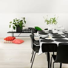 Dining Room Table Cloth Marimekko Kivet White Black Tablecloth Marimekko Kitchen