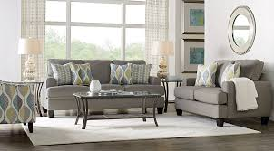 rooms to go living rooms cypress gardens gray 7 pc living room living room sets gray