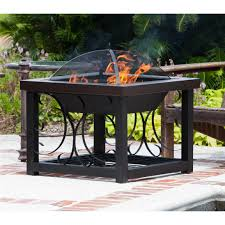 Firesense Table Top Patio Heater by Fire Sense Hammer Tone Bronze Finish Cocktail Table Fire Pit