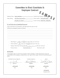 doc 407527 employment contract form free basic template employee