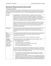 business requirement templates business requirements document