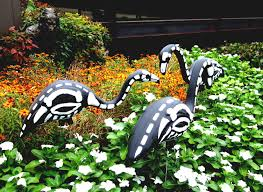 skeleton flamingos diy halloween decorations outdoor skeleton