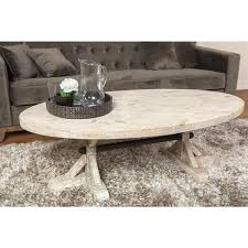Wood Oval Coffee Table - kingston driftwood oval coffee table