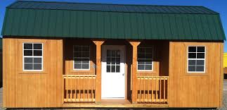 wk side lofted barn cabin custom porch jpg