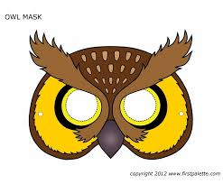 owl mask printable owl mask