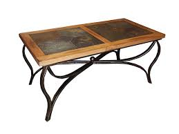 Rustic Iron Coffee Table Sedona Rustic Oak Wood Slate Metal Coffee Table Designs
