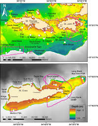 St Thomas Virgin Islands Map The United States Virgin Islands Territorial Coral Reef Monitoring