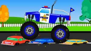 3d police monster truck trucks pictures of trucks for kids group 67