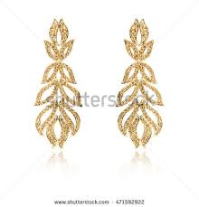 golden earrings golden earrings stock images royalty free images vectors