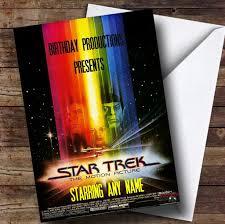 spoof star trek film poster funny personalised birthday card the