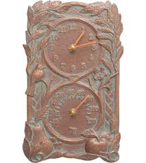 Patio Thermometer by Outdoor Clocks And Outdoor Thermometers Organize It